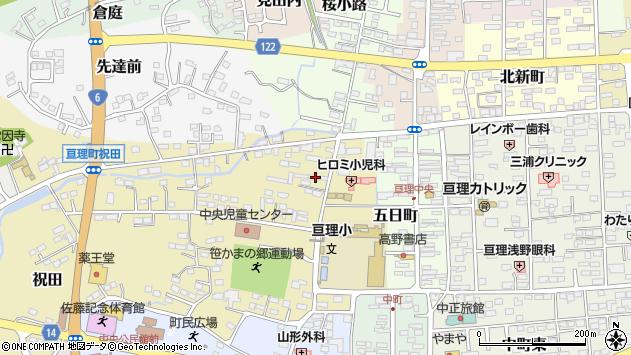 宮城県亘理郡亘理町周辺の地図