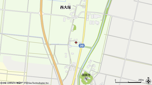 山形県東置賜郡川西町西大塚59周辺の地図