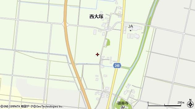 山形県東置賜郡川西町西大塚118周辺の地図