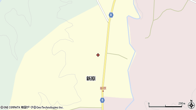 山形県西置賜郡小国町新原58周辺の地図