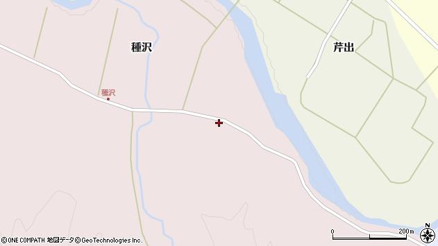 山形県西置賜郡小国町種沢104周辺の地図
