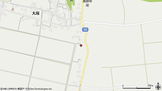 山形県東置賜郡川西町大塚1444周辺の地図