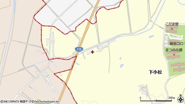 山形県東置賜郡川西町下小松深沢周辺の地図