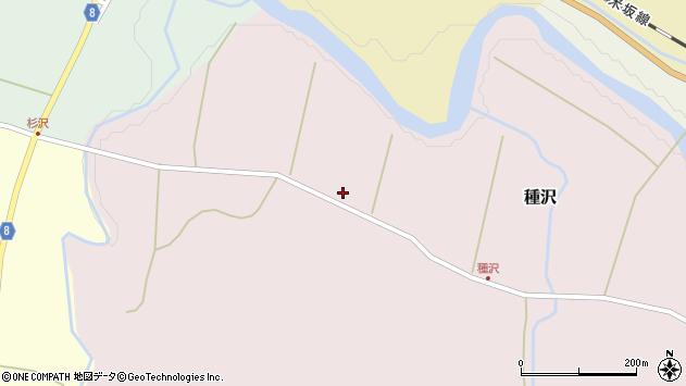 山形県西置賜郡小国町種沢641周辺の地図