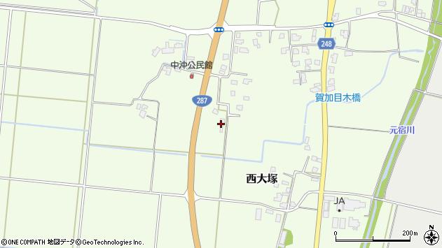 山形県東置賜郡川西町西大塚626周辺の地図