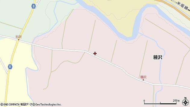山形県西置賜郡小国町種沢644周辺の地図