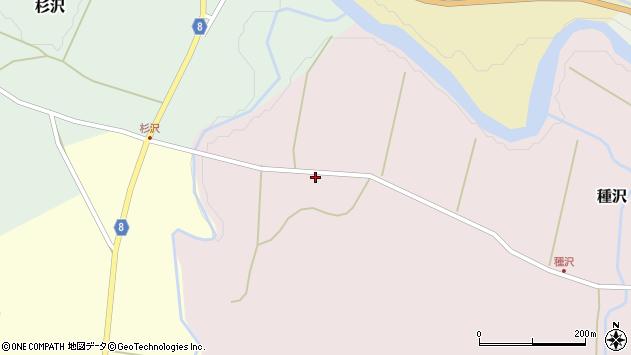 山形県西置賜郡小国町種沢674周辺の地図