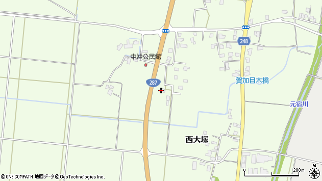 山形県東置賜郡川西町西大塚645周辺の地図