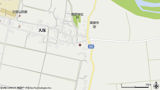 山形県東置賜郡川西町大塚東新田周辺の地図