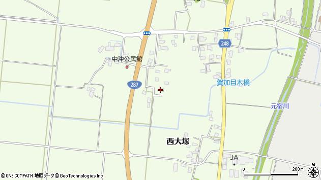山形県東置賜郡川西町西大塚515周辺の地図