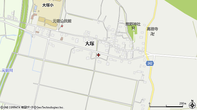 山形県東置賜郡川西町大塚2292周辺の地図