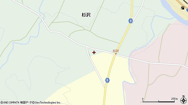 山形県西置賜郡小国町杉沢96周辺の地図