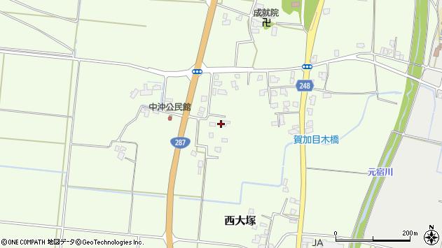山形県東置賜郡川西町西大塚520周辺の地図