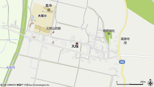 山形県東置賜郡川西町大塚2307周辺の地図