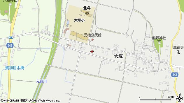 山形県東置賜郡川西町大塚3023周辺の地図