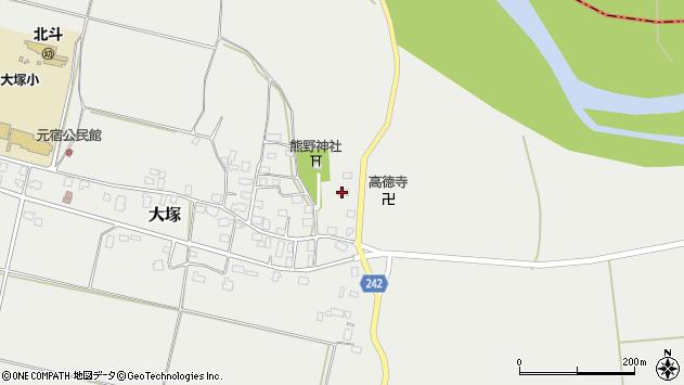 山形県東置賜郡川西町大塚2225周辺の地図