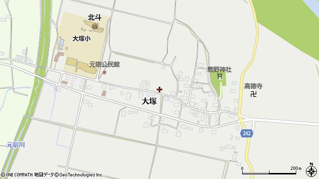 山形県東置賜郡川西町大塚2198周辺の地図