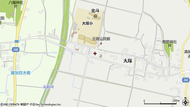 山形県東置賜郡川西町大塚3020周辺の地図