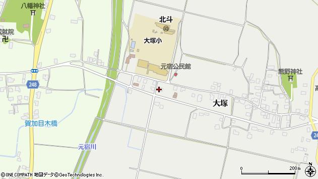 山形県東置賜郡川西町大塚3034周辺の地図