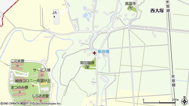 山形県東置賜郡川西町西大塚1001周辺の地図