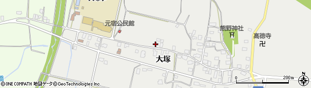 山形県東置賜郡川西町大塚2160周辺の地図