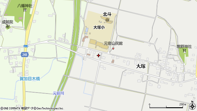 山形県東置賜郡川西町大塚3033周辺の地図