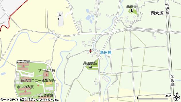 山形県東置賜郡川西町西大塚1010周辺の地図