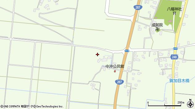 山形県東置賜郡川西町西大塚仲沖周辺の地図