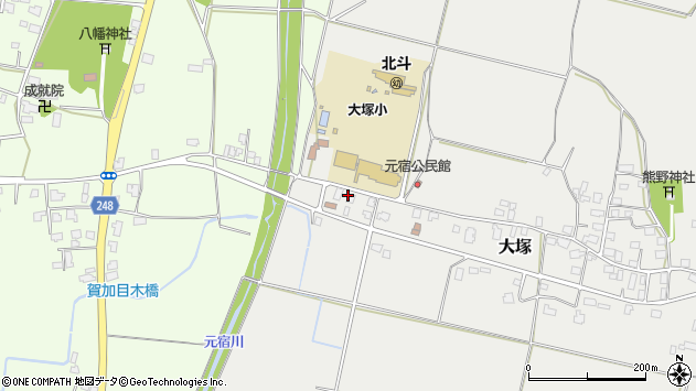 山形県東置賜郡川西町大塚3051周辺の地図