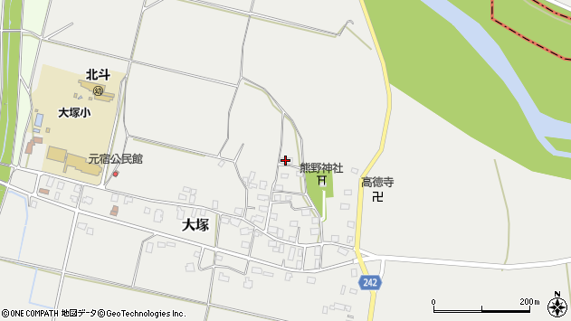 山形県東置賜郡川西町大塚2216周辺の地図