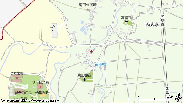 山形県東置賜郡川西町西大塚新田周辺の地図