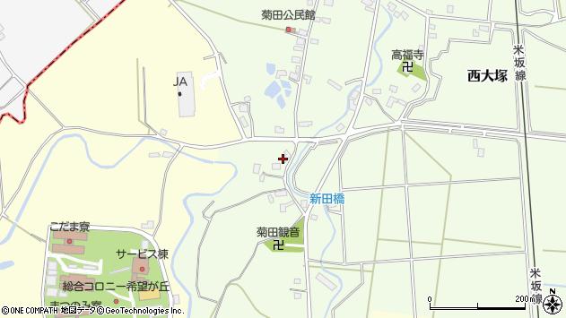 山形県東置賜郡川西町西大塚1032周辺の地図