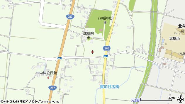 山形県東置賜郡川西町西大塚八幡周辺の地図