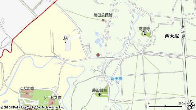 山形県東置賜郡川西町西大塚1048周辺の地図