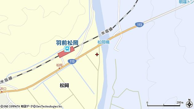 山形県西置賜郡小国町松岡19周辺の地図