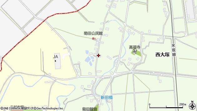 山形県東置賜郡川西町西大塚1076周辺の地図