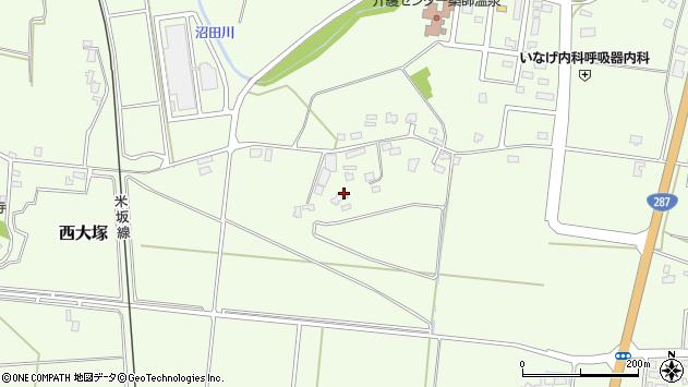 山形県東置賜郡川西町西大塚1576周辺の地図