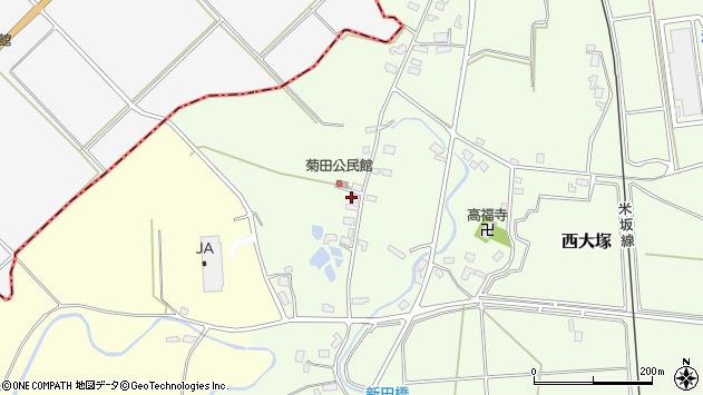 山形県東置賜郡川西町西大塚1062周辺の地図