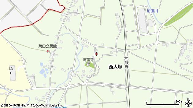 山形県東置賜郡川西町西大塚1152周辺の地図