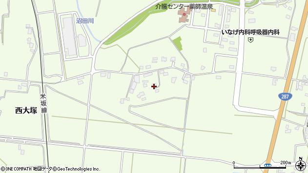 山形県東置賜郡川西町西大塚1570周辺の地図
