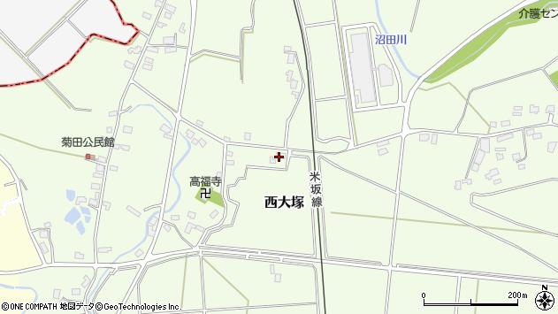 山形県東置賜郡川西町西大塚1130周辺の地図