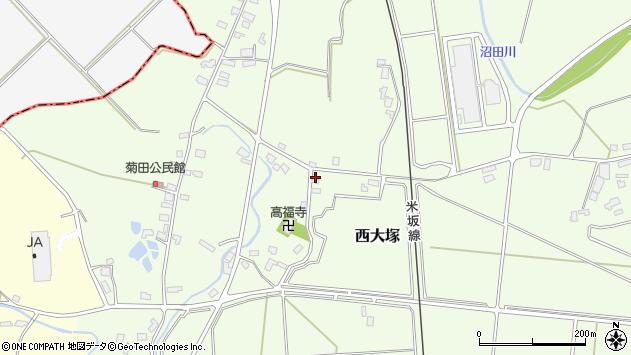 山形県東置賜郡川西町西大塚876周辺の地図