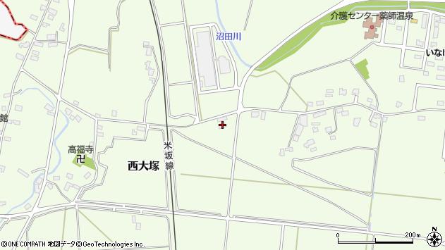 山形県東置賜郡川西町西大塚1144周辺の地図