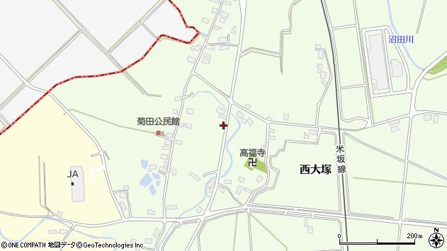 山形県東置賜郡川西町西大塚1088周辺の地図