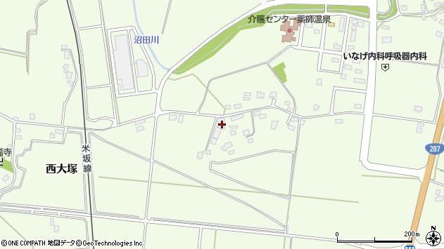 山形県東置賜郡川西町西大塚1579周辺の地図
