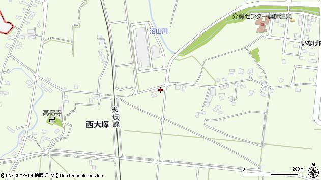 山形県東置賜郡川西町西大塚1446周辺の地図