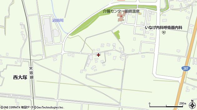 山形県東置賜郡川西町西大塚1574周辺の地図