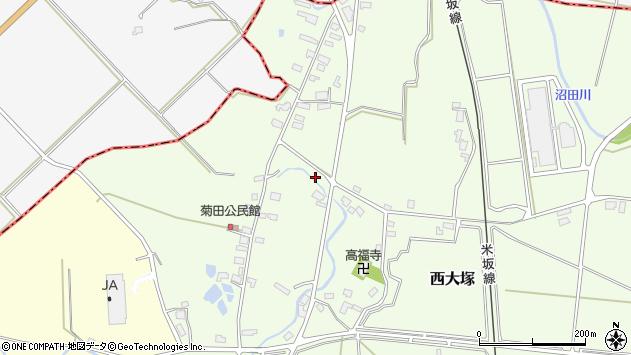 山形県東置賜郡川西町西大塚1090周辺の地図