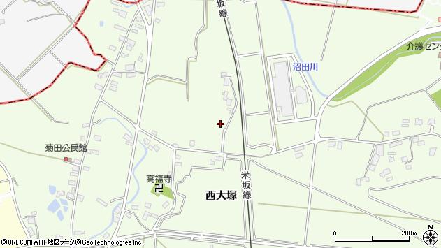 山形県東置賜郡川西町西大塚1274周辺の地図
