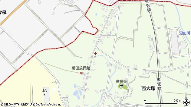 山形県東置賜郡川西町西大塚1177周辺の地図